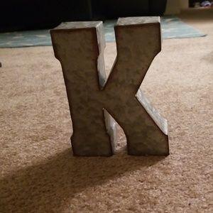 Tin letter K